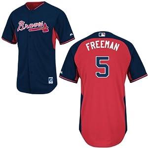 Freddie Freeman Atlanta Braves Navy Batting Practice Jersey by Majestic by Majestic