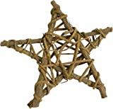 Wooden Weaved Wood Five Point Star Pentagram Wall Or Door Plaque Witchcraft