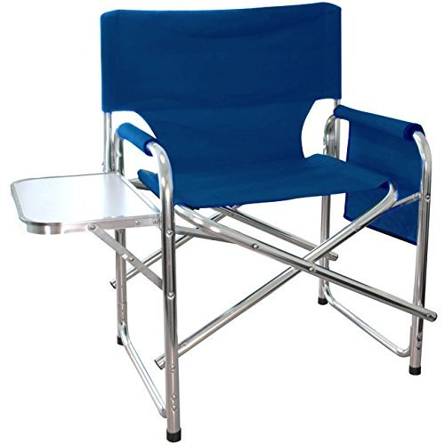 mp-essentials-strong-sturdy-portable-travel-sports-directors-chair-with-pockets-table-blue