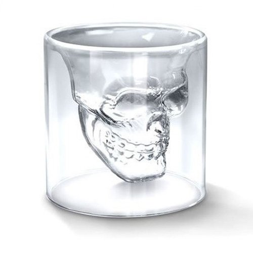 2016 New Creative Designer Skull Head Shot Glass Fun Doomed Transparent Party Doom Drinkware Gift for Halloween 4 sizes (150ml) (Name Plate Cookie Cutter compare prices)