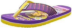 DORA Girls Yellow and Purple Flip-Flops and House Slippers - 5 kids UK/India (22 EU)