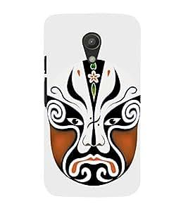 EPICCASE Beijing Opera Brown Mask Mobile Back Case Cover For Moto G 2nd Gen (Designer Case)