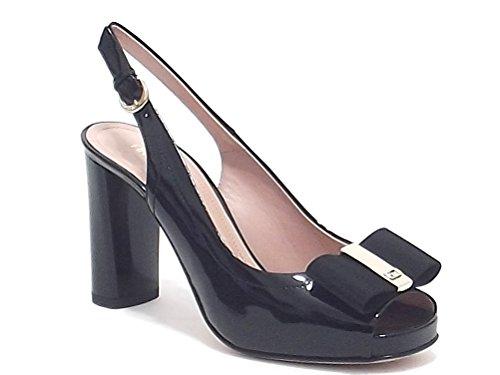 Donna Serena scarpe donna, modello 8072, sandalo in vernice, colore nero, tacco alto
