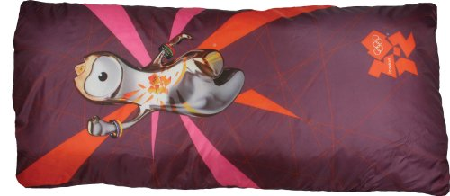 London 2012 Kids Mascot Envelope Sleeping Bag - Burgandy Wenlock
