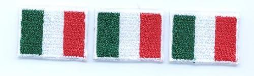 ミニミニ国旗ワッペン 3枚セット イタリア