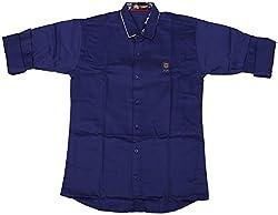 Accurate Boys' Cotton Shirt (SH 147, Blue, 12)