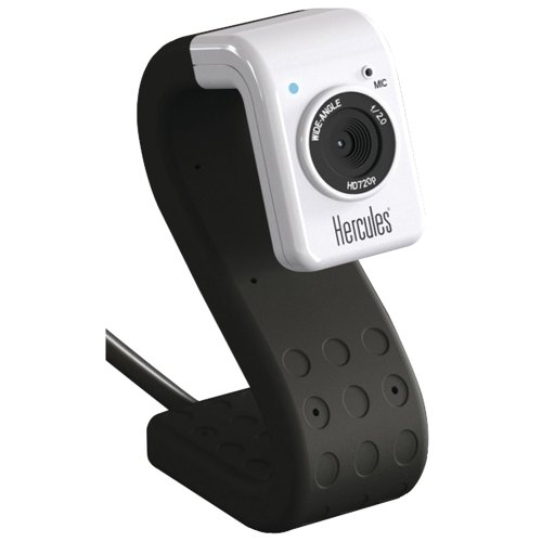 Hercules 4780718 HD Twist Mini Webcam - Black Edition