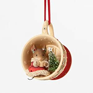 Enesco Heart of Christmas Gift Mouse in Teacup Ornament, 1 ...