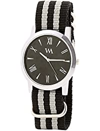 WATCH ME Black Nylon Black Dial Watch For Men Black Nylon Black Dial Watch For Men Watch MeAL-188