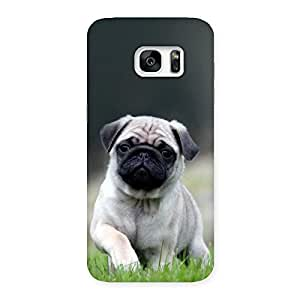 Ajay Enterprises Delight Pug Dogo Back Case Cover for Galaxy S7 Edge