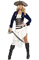 Roma Costume Deluxe 6 Piece Colonial Pirate Costume