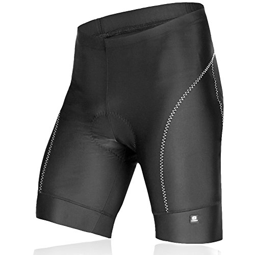 Lameda Gel Imbottito Pantaloncini Ciclismo di Compressione con Funzione Quick Dry Nero XXL
