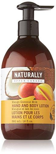 Upper Canada Soap Naturally Nourishing Hand and Body Lotion, Mango Coconut Milk, 12 Fluid Ounce (Naturally Upper Canada Lotion compare prices)