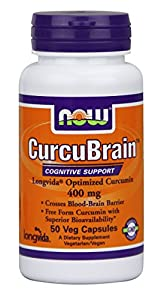 Now Foods Curcubrain Longvida 400 mg, 50 Count