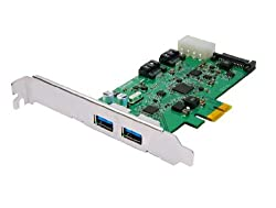 4-port PCI Express USB/Serial ATA Combo Adapter