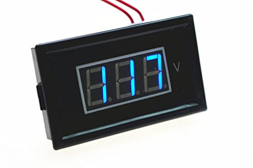 Smakn Ac 60-500V Blue Led Digital Voltmeter Voltage Panel Meter