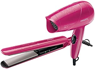 Philips HP 8643 Hair Straightener and Hair Dryer Combo Pack (Miss Fresher's Pack)