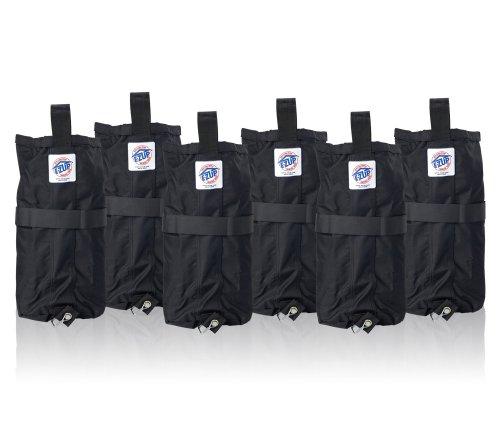 E-Z UP Weight Bag, Set of 6, Black