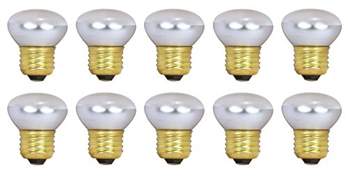 Pack Of 10 40R14 Short Neck 40 Watt E26 Medium Base Reflector R14 Incandescent Light Bulb (40w Type R Bulb compare prices)