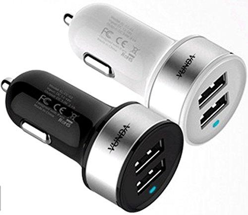 Mini Dual USB Auto Ladegerät 5 V 3,1 A/15 W hohe-Geschwindigkeit für iPhone 5S/5C, iPad/Mini, Galaxy S4/S3/Note 2/3, Nexus, iPod, alle Android Geräte, die iPhones, Smartphones & Tablets mit Trageetui - Schwarz