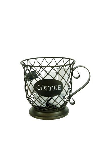Boston Warehouse Kup Keepers Holder Coffee Cup and Diamond Design for Coffee and Espresso Pod Storage image