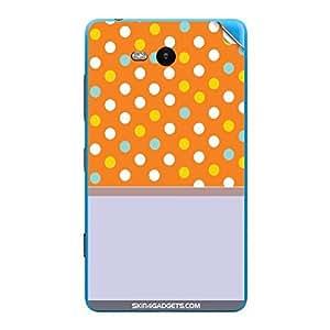 Skin4Gadgets Polka Orange Phone Skin STICKER for NOKIA LUMIA 820