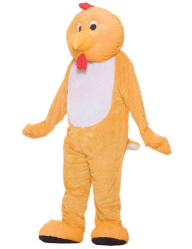 Adult-Costume Chicken Mascot Costume Halloween Costume - Most Adults