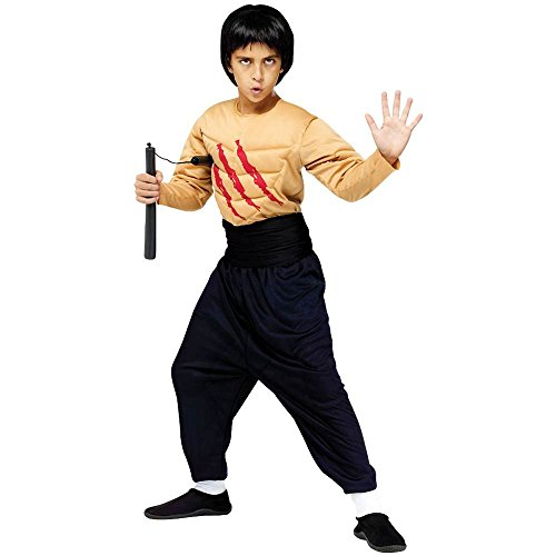 Bruce Lee Kung Fu Master Kids Costume