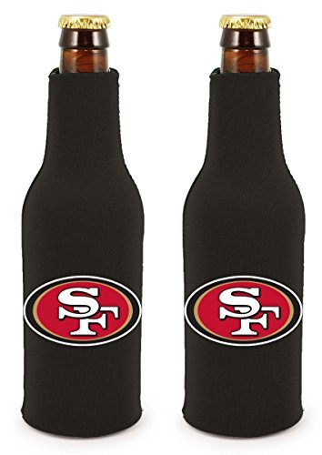 NFL Football 2014 Team Color Logo Bottle Suit Holder Cooler 2-Pack (San Francisco 49ers) (49ers Beer Bottle Cooler compare prices)
