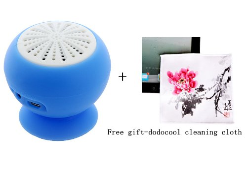 Mini Stereo Bluetooth Speaker Subwoofer Bass Sound Box For Iphone Ipod Ipad Handsfree Mic Car Suction Cup (Blue)