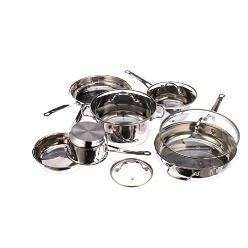Kevin Dundon KD10CSSS 10-Piece Cookware Set, Silver