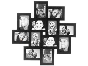 Present Time Large Cluster Photo Frame, Black