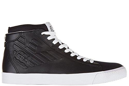 Emporio Armani EA7 scarpe sneakers alte uomo in pelle nuove star nero EU 42 278058 6A299 00020