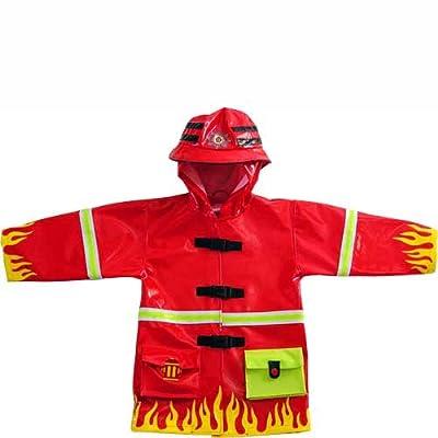 Kidorable Red Fireman Flames Raincoat