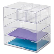 Plastic,Optimizers 13 1/4 x 13 1/4 x 10 Inch Four Way Organizer with Drawers