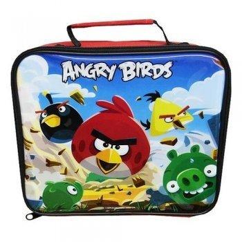 Kinder Angry Birds Lunchbox, Brotdose/Tasche (23cm x 20cm) (Rot/Blau)