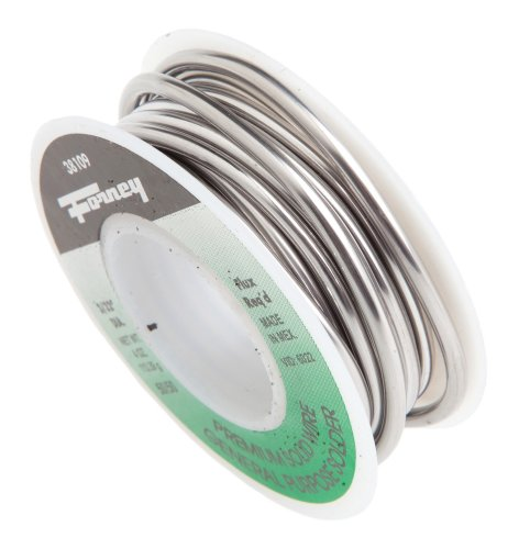 Forney 38109 Solid Wire 50/50 Tin Lead Solder, 3/32-Inch, 1/4-Pound