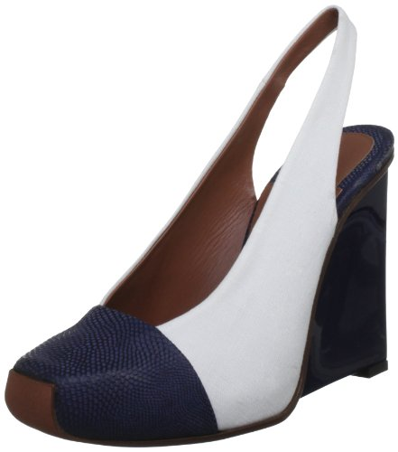 Philosophy Di Alberta Ferretti Women's Dark Navy Blue Slingback Wedges 5 UK