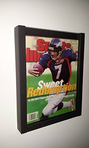 DisplayGifts Magazine Display Case Shadow Box Frame for CURRENT Sports Illustrated Magazine or Comic Book BH02-BL (Display Case For Magazine compare prices)
