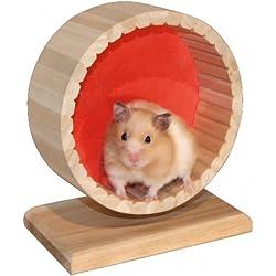 Hamsterlaufrad mit Ständer, 6 x 11 x 15 cm.
