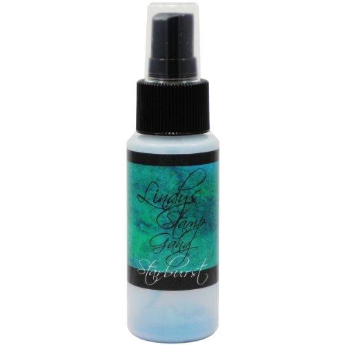 Brand New Lindy's Stamp Gang Starburst Spray 2oz Bottle-Tibetan Poppy Teal Brand New