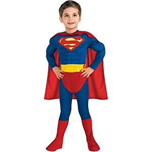 Superhero Superman Muscle Chest Toddler Halloween Costume (3-4 T) from Rubie's