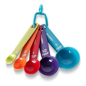 Farberware Color Measuring Spoons, Mixed Colors, Set of 5 by Farberware