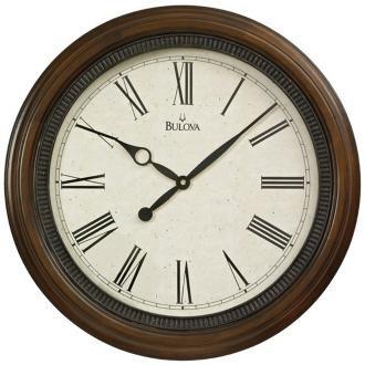 bulova north hampton 20 round wooden wall clock home decor