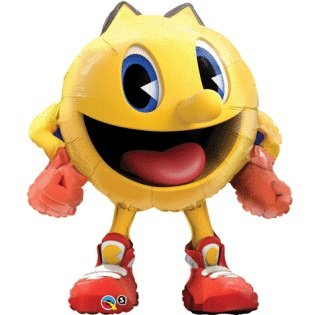 "PAC-MAN Shaped Arcade Game Character 36"" Birthday Party Mylar Foil Balloon"