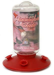 Heath Outdoor Products Plastic Hummingbird 24-Ounce Plastic Bottle Feeder
