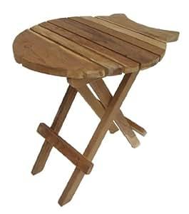 teak beistelltisch fisch 60 cm teaktisch klapptisch 68678. Black Bedroom Furniture Sets. Home Design Ideas