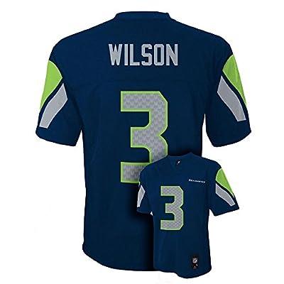 Russell Wilson Seattle Seahawks Navy Blue NFL Youth 2016-17 Season Mid-Tier Jersey