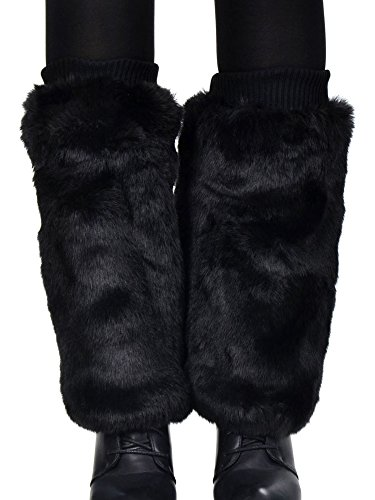 Fluffy Soft Faux Rabbit Fur Boot Cuff Leg Warmers – Furry Boot Toppers