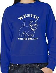 Westie Dog Lover Sweatshirt Jumper UnisexIn White Glitter Birthday Gift Small -XXL